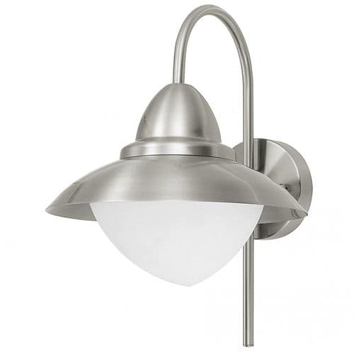 Eglo Outdoor 83966 Sidney Outdoor Wall Light Stainless Steel